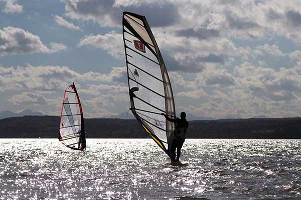Surfer am Ammersee