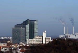 Blick von Münchens Olympiaberg auf die Stadt München
