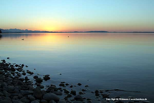 sundown at chiemsee