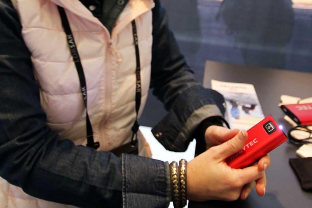praktisch - der Akku der auch zusätzlich als Handwärmer dient