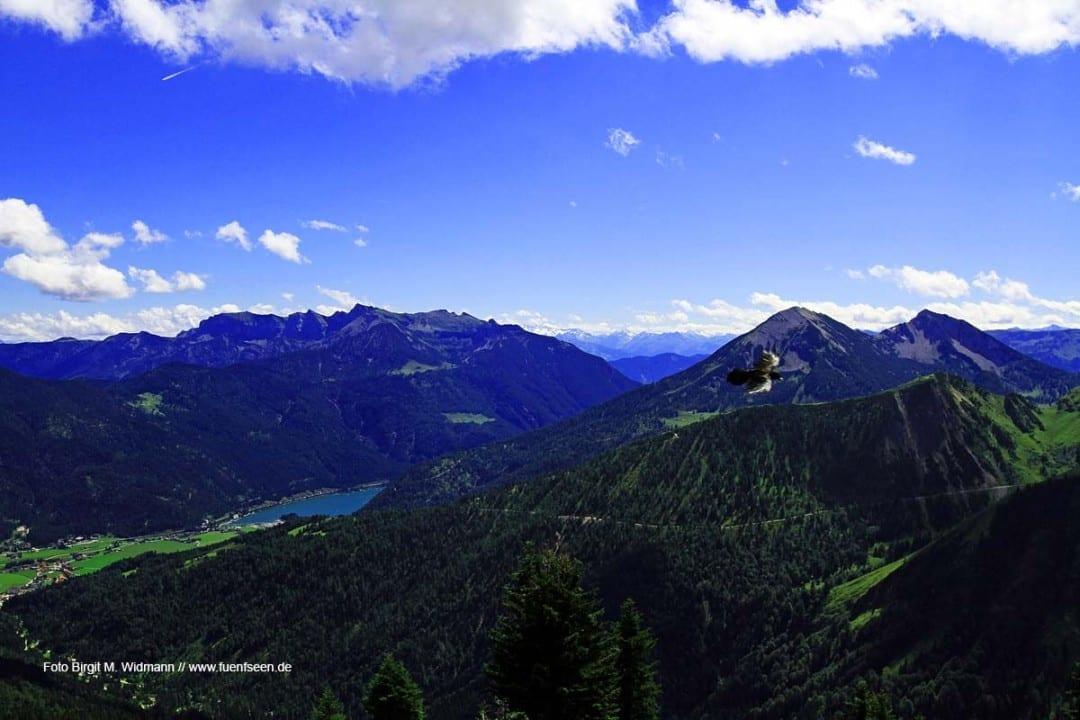 Blick auf den Achensee von der Hochplatte, Foto Birgit M. Widmann