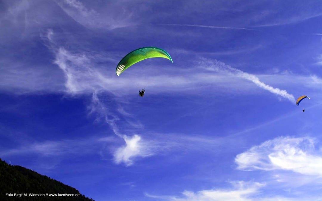 Paraglider am Tegernsee