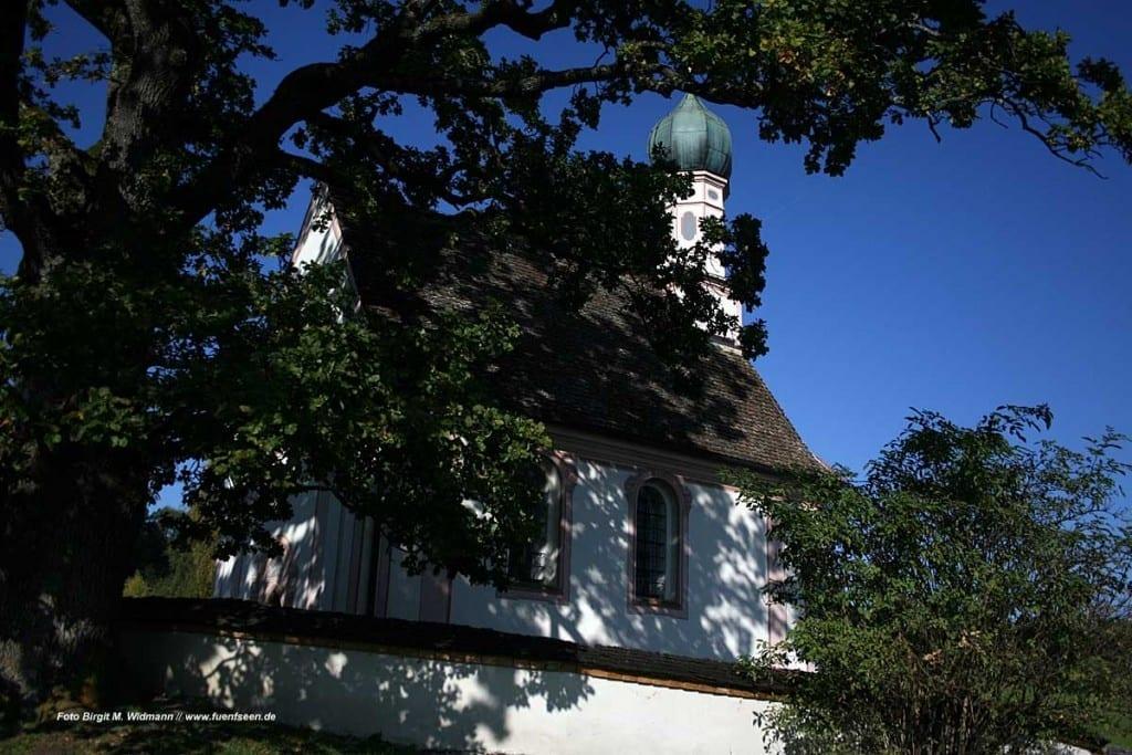 Die Kapelle beim EIngang zur Wanderung Murnauer Moos