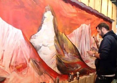 Kunst auf der ISPO