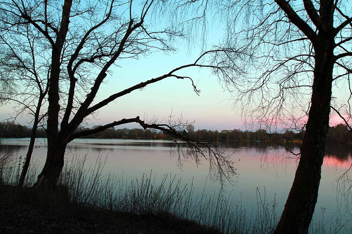 Sonnenuntergang Olchinger See