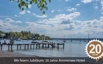 Wir feiern Jubiläum: 20 Jahre Ammersee-Hotel