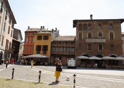 Stadtkern von Como - historische Häuser