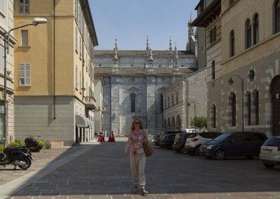 in Como an der Kathedrale