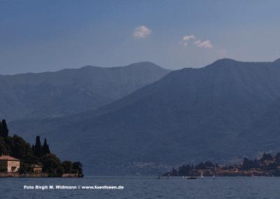 Die Region Comersee in Italien