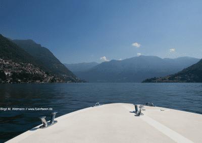 Comer See - Blick vom Boot aus