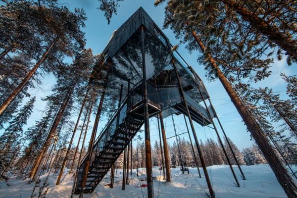 Siebtes Baumhaus in Swedish Lappland eröffnet
