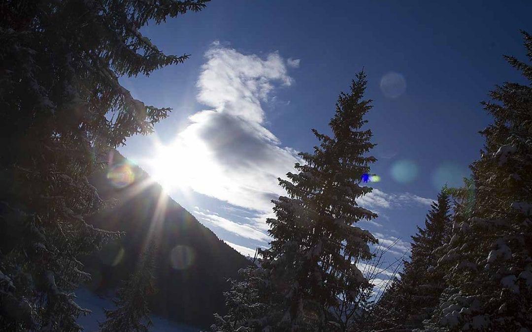 Schneeschuhwandern und Meditation