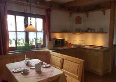 Pension am See Küche im Erdgeschoss