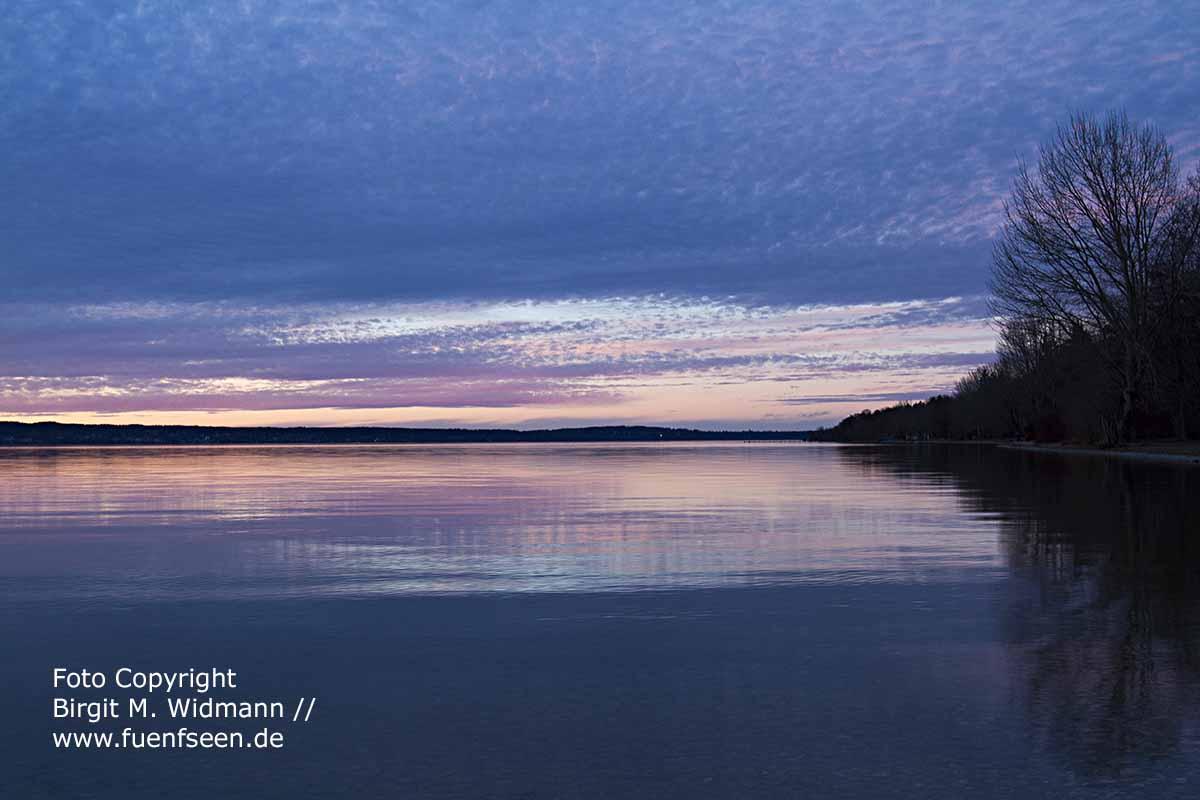 so schön ist der Starnberger See bei Nacht ~ fuenfseen.de