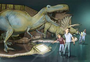 Dinoworld Ausstellung im Olympiapark in München