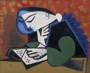 Pablo Picasso, La Lecture, 1953 Nationalgalerie, Staatliche Museen zu Berlin, Museum Berggruen © bpk / Nationalgalerie, SMB, Museum Berggruen / Jens Ziehe