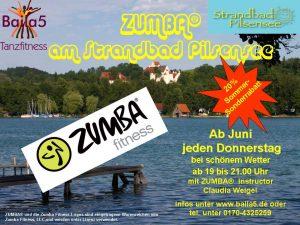 Outdoor Zumba im Strandbad Pilsensee