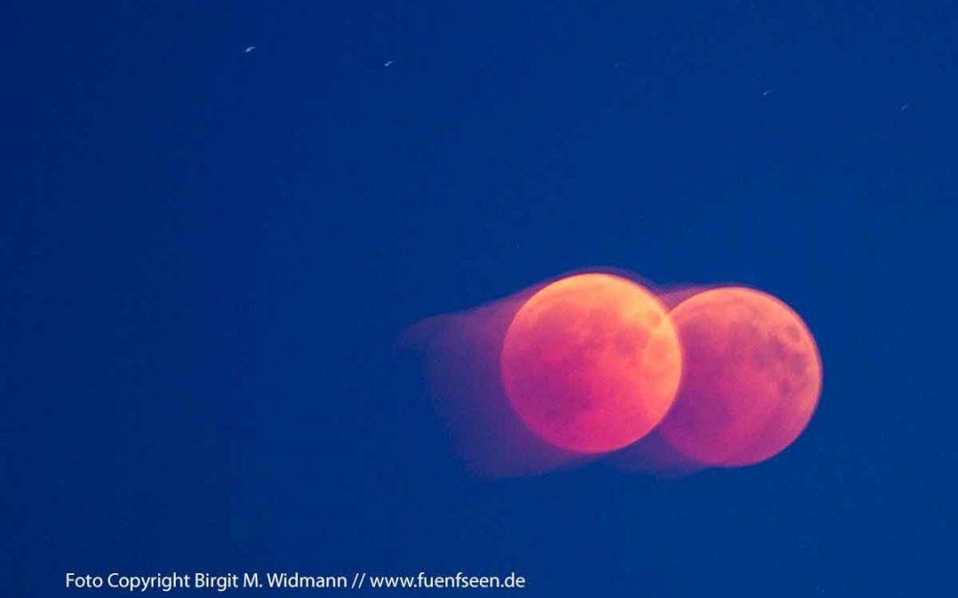 Blutmond und Planetentreffen