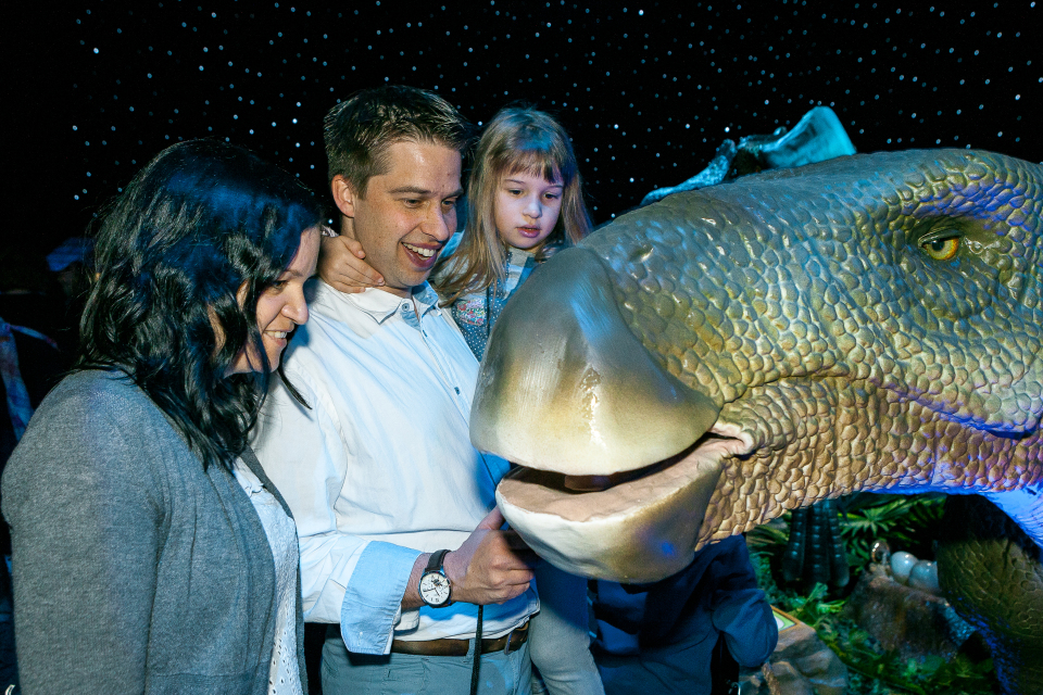 Entedeckertouren in der Dinoworld in München Olympiapark