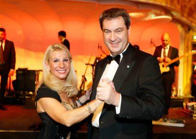 Markus Söder mit Frau Deutscher Filmball in München