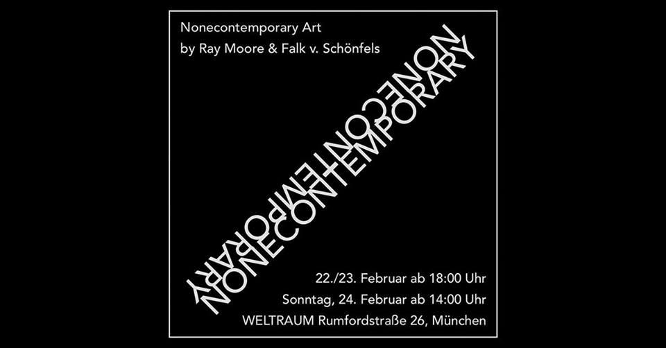 Nonecontemporary Art Ray Moore und Falk von Schönfels