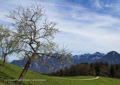 hohe Asten Inntal, Bayern, Deutschland, leichte Wandertour