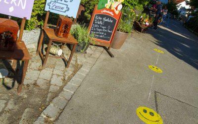 Biergärten eröffnen mit Sonnenschein